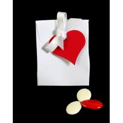 Ballotin Blanc Coeur