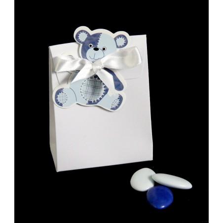 Ballotin Blanc Ourson Bleu