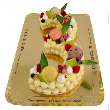 Gâteaux Chiffres Exotique
