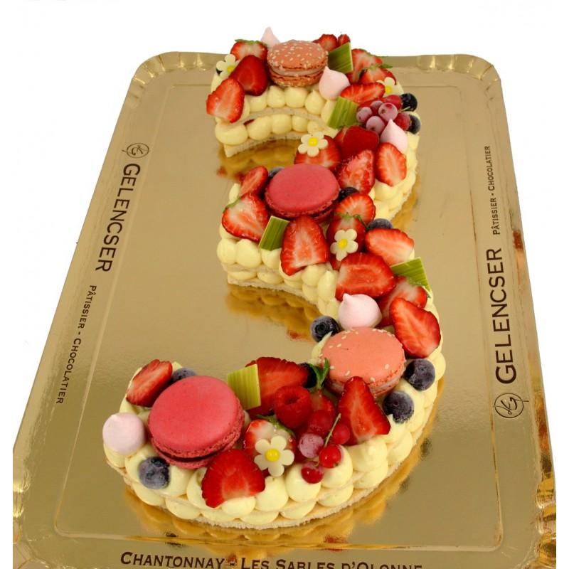 Gâteaux Chiffres Vanille - Fraise