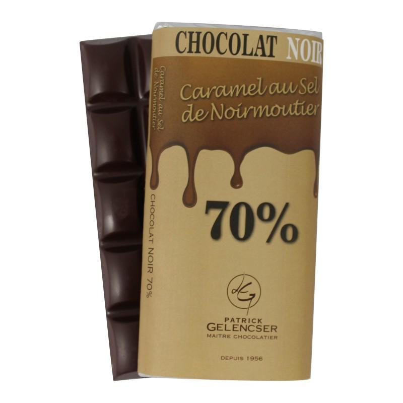 Tablette noir 70% - Caramel au sel de Noirmoutier