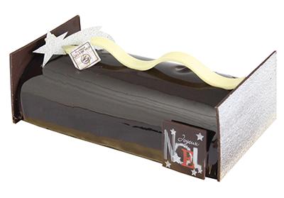 Bûche croquant, dessert fin d'année, chocolaterie pâtisserie Gelencser La Roche sur Yon