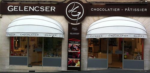 Façade Gelencser chocolatier à la Roche sur Yon centre-ville