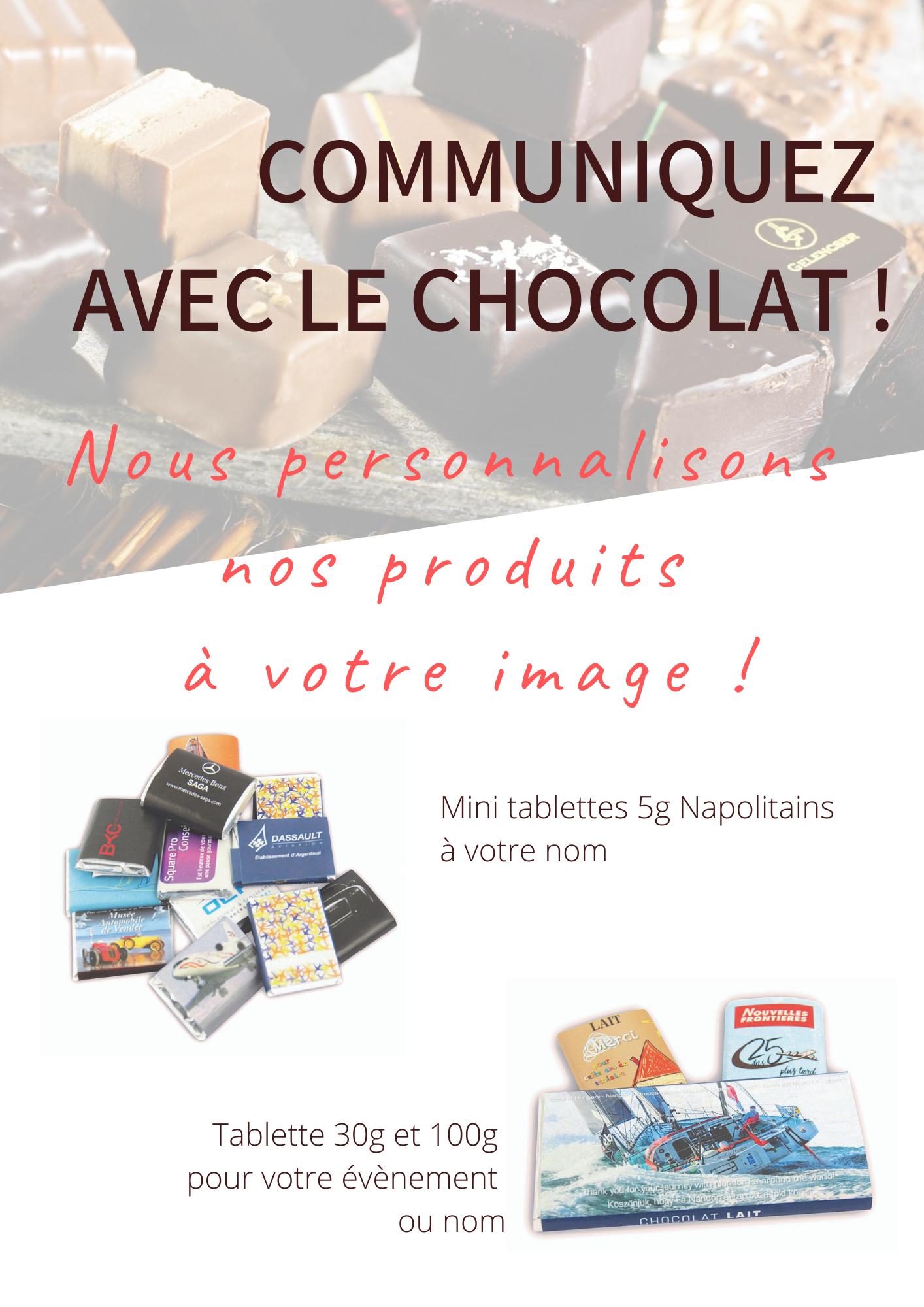 Communiquez avec le chocolat !